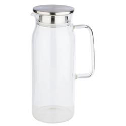 APS Glaskaraffe, Getränkekanne für gekühlte Getränke, Maße (Ø x H): 10 x 26 cm