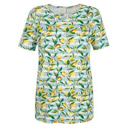 Paola T-Shirt mit Zitronen-Druck 46