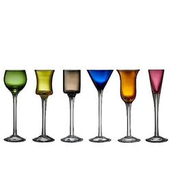 Lyngby Glas Schnapsglas unterschiedliche Farben 6 Stk