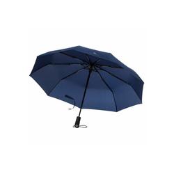 VON HEESEN Taschenregenschirm Regenschirm mit Auf-Zu-Automatik blau