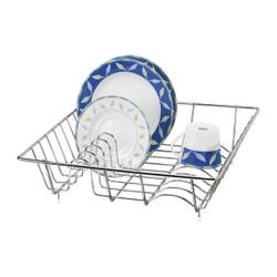 WENKO Geschirrabtropfkorb, Praktischer Abwaschhelfer für Zuhause, im Garten oder beim Camping, Farbe: Silber, glänzend