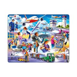 Larsen Puzzle Rahmen-Puzzle, 42 Teile, 36x28 cm, Flughafen, Puzzleteile