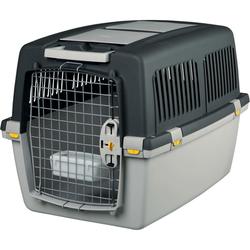 Transportbox Hund Gulliver, IATA Flugbox, Gulliver 4: 72x52x51 cm, dunkelgrau/hellgrau