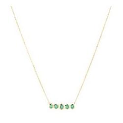ROYELLE Kolumbianischer Smaragd ca. 0,52ct Collier Gold 585