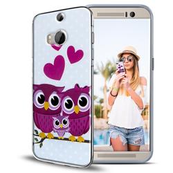 Motiv Hülle für HTC One M8 buntes Silikon Handy Schutz Case