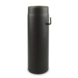 Ø 150 mm - Ofenrohr 50 cm mit Drosselklappe Schwarz