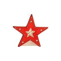 Teelichthalter Stern rot