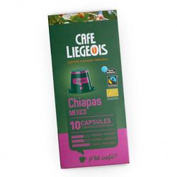 """Kaffeekapseln Café Liégeois """"Chiapas"""", 10 Stk."""
