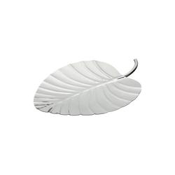 HTI-Living Servierplatte Platte silber Palmenblatt, Edelstahl, (1-tlg)