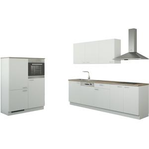 Küchenzeile mit Elektrogeräten  Cottbus ¦ weiß