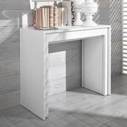 Design Schreibtisch in Weiß ausziehbar