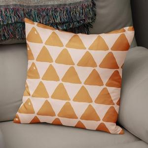 BonaMaison Kissen Zierkissenbezug Kissenbezug, Orange & Off White Dekoration, Für Zuhause Autos Büro Sofa Wohnzimmer Couch Schlafzimmer Dekor, 50x50 cm - Entworfen und hergestellt in der Türkei