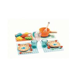 DJECO Spielgeschirr Rollenspiel Kinderküche - Alle Katzen zu Tisch,