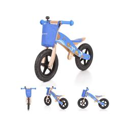 Byox Laufrad Holz Laufrad Woody 12 Zoll (30,48 cm) Zoll, blau, 12 Zoll Vollgummireifen, PU-Sattel einstellbar