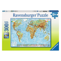 Ravensburger Puzzle Politische Weltkarte, 300 Puzzleteile bunt