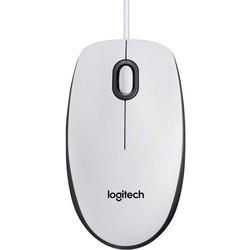 Logitech Mouse M100 Maus weiß