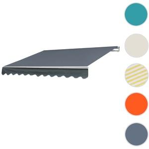 Alu-Markise T791, Gelenkarmmarkise Sonnenschutz 4,5x3m ~ Acryl Grau