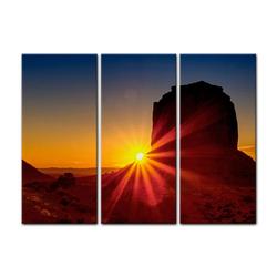 Bilderdepot24 Leinwandbild, Leinwandbild - Panorama Sunrise - Panorama Sonnenaufgang 150 cm x 90 cm