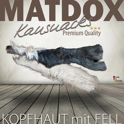 (23,38 EUR/kg) MATDOX Premium Rinderkopfhaut mit Fell 500 g