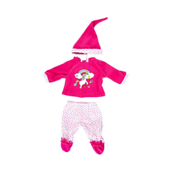 Bayer Puppenkleidung Pailletten-Kleid für Puppen 40-46 cm, pink/weiß rosa