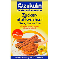 ZIRKULIN Zuckerstoffwechsel Zimt Plus Tabletten 60 St.