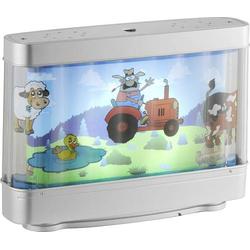 LeuchtenDirekt LED-Dekoleuchte Bauernhof LED LED fest eingebaut 3W Silber