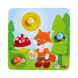 Haba Steckpuzzle HABA 305204 Greifpuzzle Fuchs, Puzzleteile