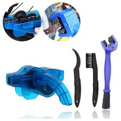 Reinigungsbürste Fahrradkettenreiniger Kit, Fahrradkettenreiniger Schrubber, Bürstenwerkzeug-Set für Fahrradketten, Schnellreinigungswerkzeug für alle Arten von Fahrrädern, kueatily blau