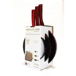 Mischler Cook Pfannen-Set Pfannen-Set, Aluminium (3-tlg., 1 Bratpfanne ø 20 cm; 1 Bratpfanne ø 24 cm; 1 Bratpfanne ø 28 cm)