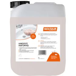 NOVADUR Handseife Parfümfrei, Geruchlose Handwaschseife (Cremeseife), 5 l - Kanister