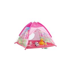 relaxdays Spielzelt Spielzelt Mädchen Pink mit Fee