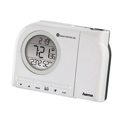 Hama Projektionswecker Funkwecker Wecker, Uhrzeit, Temperatur, Kalender, 2Weckzeiten, digital weiß