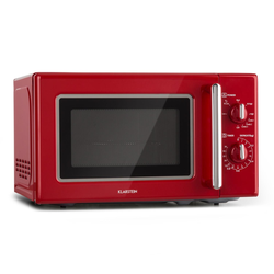 Retro Mikrowelle Mikrowellenofen Grill Timer 20l 1000W Ø25,5cm »Caroline«, Mikrowellen, 29039732-0 rot rot
