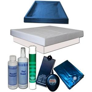 Wasserbett Komplett - MONO Softside Carbon Heater IQ Starter Set Podest