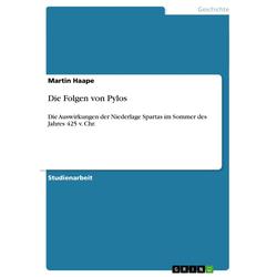 Die Folgen von Pylos als Buch von Martin Haape