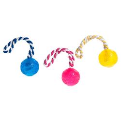 Karlie Hundespielzeug good4fun Ball mit Wurfseil