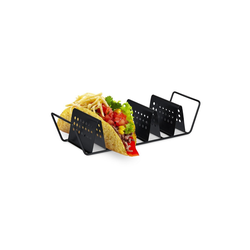 relaxdays Geschirr-Set Taco Halter, Metall
