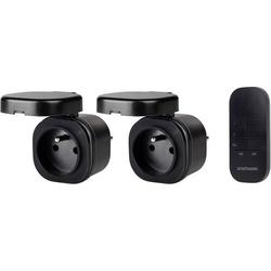 Smartwares SH4-99651FR Funk Steckdosen-Set Außenbereich 3000W