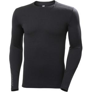Helly Hansen Herren Lifa Merino Midweight Crew Sweatshirt Langarm-T-Shirt, Schwarz, 2XL