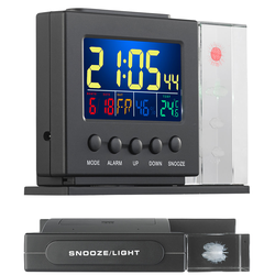 3D-Hologramm-Wetterstation mit Thermometer, Hygrometer, Uhr & Wecker