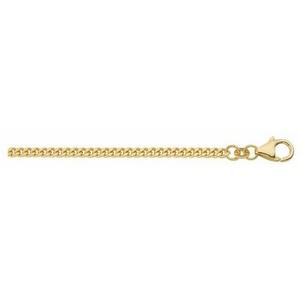 Adelia´s Goldkette 585 Gold Flach Panzer Halskette, Flach Panzerkette Goldschmuck für Damen 50