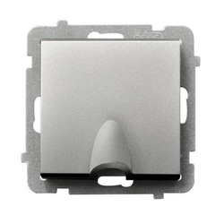 Kabelanschluss - Steckdose Silber matt Ospel Sonata GPPK-1R/m/38