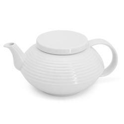 Walküre Porzellan Teekanne Teekanne mit Rillen, 1,0l THEA Weiß Walküre Porzel, 1,0 l, Made in Germany