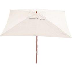 Sonnenschirm Lissabon, Gartenschirm Marktschirm, 3x4m Polyester/Holz 6kg ~ creme