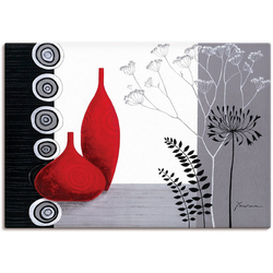 Artland Wandbild Rote Vasen, Vasen & Töpfe (1 Stück) 70 cm x 50 cm