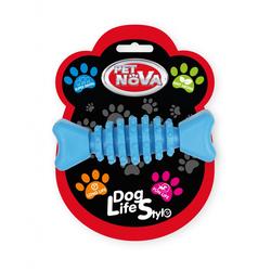 Hundespielzeug Kauspielzeug Knochen Rindfleisch Geschmack 10,5cm blau