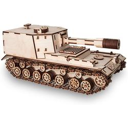Eco Wood Art 3D-Puzzle SAU-212 – Panzer – mechanischer Modellbausatz aus Holz, Puzzleteile