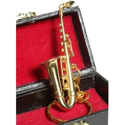 Ambiente Haus Dekofigur Schlüsselanhänger Saxophon 7cm (1 Stück)