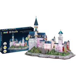 Revell® 3D-Puzzle Schloss Neuschwanstein, 128 Puzzleteile, LED-Edition