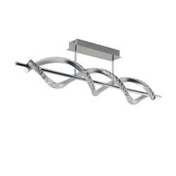KHG LED-Deckenleuchte, 2-flammig, Kristallglas ¦ silber